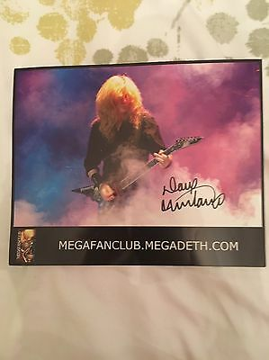 Signed Picture of Dave Mustaine From Megadeth 100% Authentic
