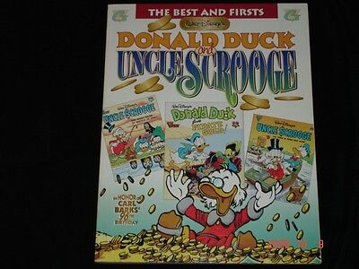 Carl Barks LAST Disney Signed Book BEST FIRSTS Donald Duck Uncle Scrooge Art NEW