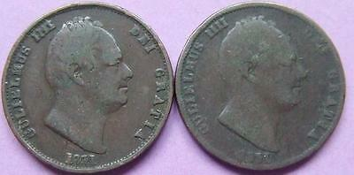 William llll 2 Halfpennies - both dated 1831.................J 62