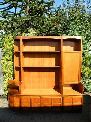 3 Piece Mid Century 1960's Large Teak Wall Unit, Bookcase, Drinks Bar