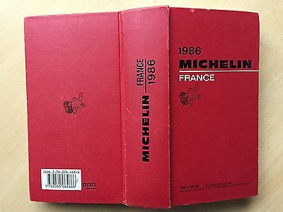 Guide Rouge Michelin 1986 original BE