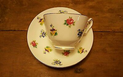 Collectible Vintage Crown Staffordshire England Fine Bone China Tea Cup & Saucer