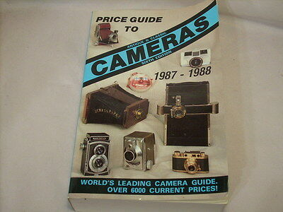 McKEOWN PRICE GUIDE TO ANTIQUE & CLASSIC CAMERAS-6th EDITION 1987-1988 HARDLY UD
