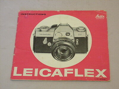 Original Leicaflex Instruction/owners Manual Printed In Germany As Supplied