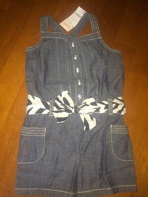 NWT Gymboree Girls Size 5 Summer Outfit Chambray Romper