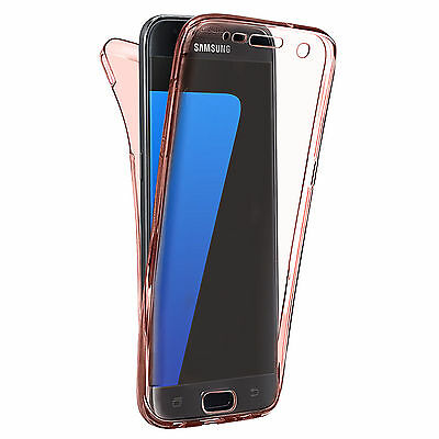 Shockproof 360° Silicone Protective Case For Samsung Galaxy S7 Rose Gold (19)