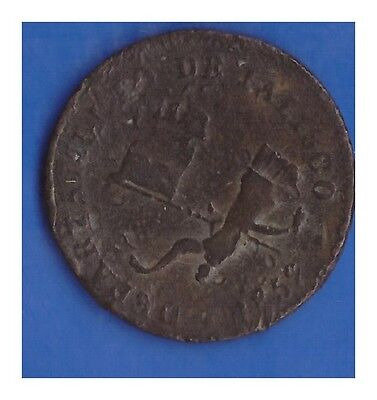 1859 Mexico 1/8 ( Un Octavo )  State Of Jalisco Very Old Coin Lot A375
