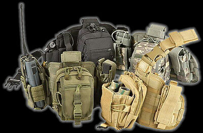 Utility Tactical Police Swat Shooters Hunters Drop Leg Rig System Pouches COLORS