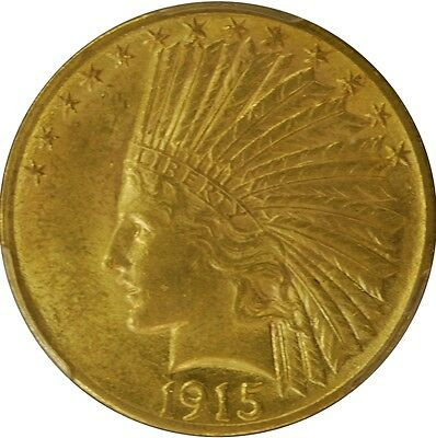 1915 PCGS AU58 US $10 Indian Head Gold Coin