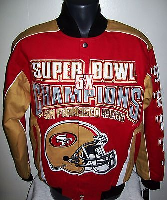 reputable site 21f4b 4a840 SAN FRANCISCO 49ERS Ultimate Super Bowl Championship Cotton Jacket Small  Med XL