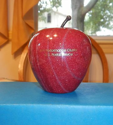 U.S. Postal Service New York Perfomance Cluster Marble / Stone Apple Paperweight
