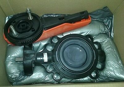 "George Fischer 3"" Pvc 567 Wafer Butterfly Valve W/epdm Seals, New, Free Ship A4"