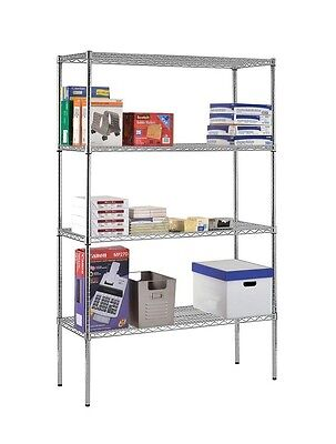 Commercial Wire Shelving 4 Tier Shelf Heavy Duty NSF 74 by 48 by 18 Inch Chrome