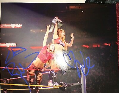WWE BELLA TWINS NIKKI & BRIE SIGNED AUTOGRAPHED 8X10 PHOTO Wrestling Auto