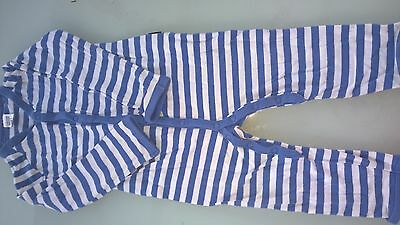 Bonds blue stripe one piece size 1