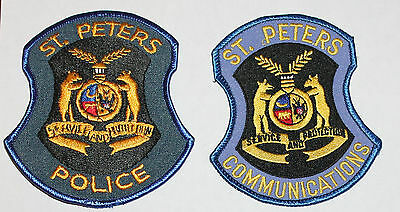ST. PETERS POLICE & Communications patch set Missouri Mo PD Dispatcher