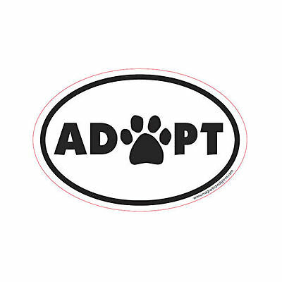 Adopt Oval Euro Style Car Dog Magnet