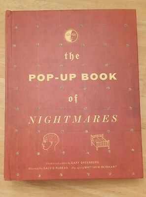 The Pop-Up Book of Nightmares First Edition Hardcover Signed By Matthew Reinhart