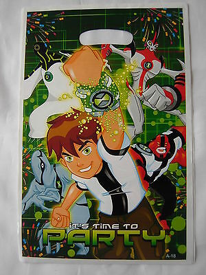 10 Brand New Birthday Party  Loot Gift Bags, Ben 10