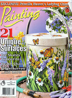 Tole Painting Magazine Monarch Butterfly Lady Bug Pansy Skate Beach Gold Fish