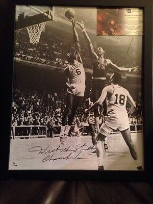Wilt The Stilt Chamberlain Autographed 16 X 20 Picture!