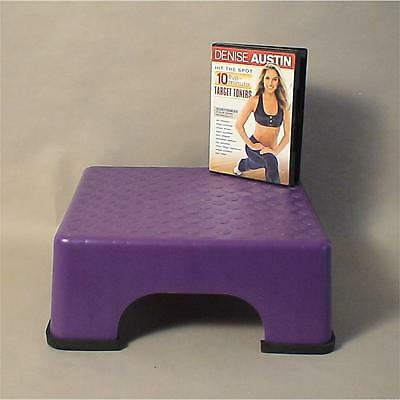 The Firm Fanny Lifter 1 Piece Aerobic Upper Top Step Stepper with 4 Rubber Feet