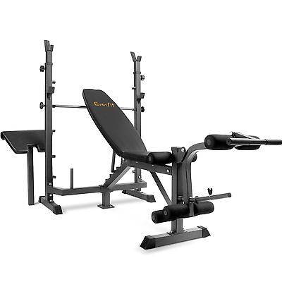 Multi-Station Weight Bench Press Fitness Weights Equipment Curl Flat Gym