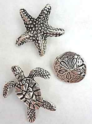Antique Silver SEA LIFE Push Pins T82AS 15 Pieces