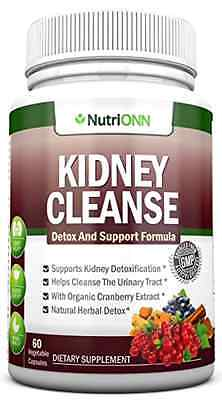 KIDNEY CLEANSE - Detox and Support For Urinary Tract, Bladder and Kidneys - All