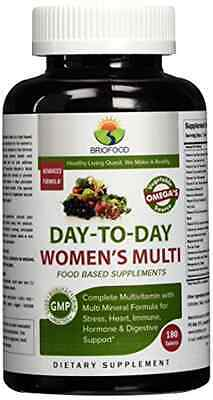Briofood Day-to-Day Women's Multi Tablet, Food Based Multivitamin with Vegetable