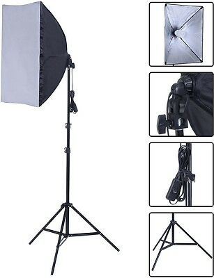 2X135W Photography Lighting Kit Continuous Bulb Studio Video Light Stand Softbox