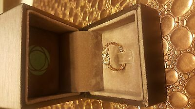 10K Rose Gold Rope Knot ring size 6&3/4