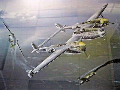 'Combat for Happy Jack' - Go Buggy, Jack Ilfrey,P38 Lightning, Artist Keith Hill