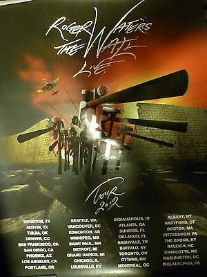 "Pink Floyd Roger Waters ""The Wall Live"" Concert Tour Poster 2012 Excellent Cond."