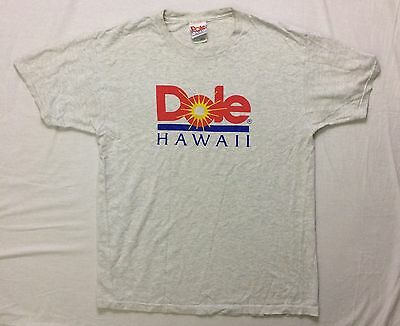 Dole Pineapple T- Shirt Hawaii Collectable size Large Grey EXC