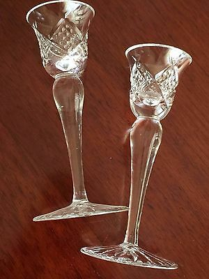 Waterford Crystal Candlesticks Candle Sticks Pair