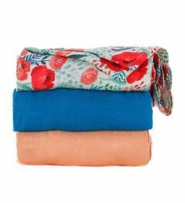 NEW Authentic Tula SECRET GARDEN Blanket Set NWT 3 Baby Blankets Swaddle Bamboo