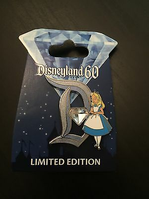 Disney Disneyland 60th Anniversary Diamond Celebration Alice D LE 3000 Pin