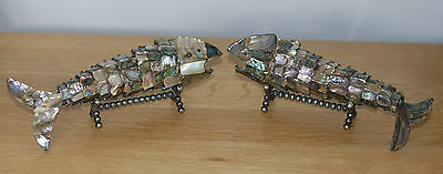 PAIR OF ARTICULATED FISH c1900  - BOTTLE OPENERS ?