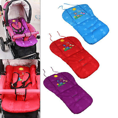 Baby Soft Thick Stroller Pram Pushchair Mat Seat Cushion Pad Liner Cover Car New