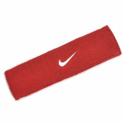 NIKE Swoosh Headband / One Size , Red x White Swoosh
