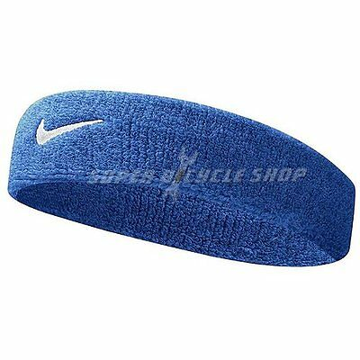 NIKE Swoosh Headband / One Size , Royal Blue x White Swoosh
