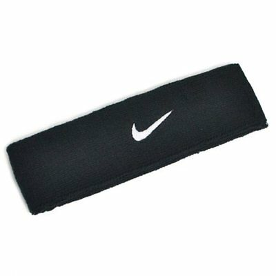 NIKE Swoosh Headband / One Size , Black x White Swoosh