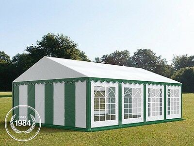 5x8m Heavy Duty PVC Marquee, Steelconstruction, Wedding Party Tent, green-white