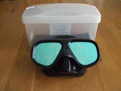 Brand New Boxed Beaver Stealth Mask Black Mirrored Tinted Lenses Scuba Diving