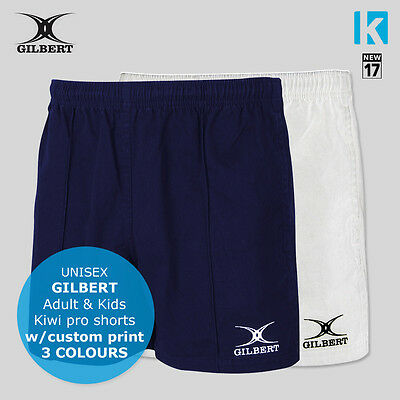 Rugby Gilbert Shorts Men and Kids Sizes 3 Colours 2017 New Sport Kiwi Pro Game