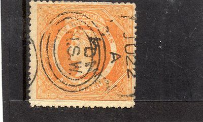New South Wales SG167a 1860-72 8d red orange av to fine used cat £55
