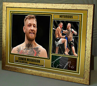 "Conor McGregor UFC canvas tribute signed Limited Edition ""Great Gift"""