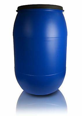 Plastic barrel 120L with Lid Water Storage Container Drum Keg Food Grade