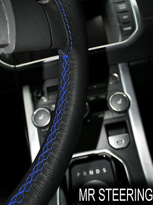 For Mitsubishi Warrior L200 Leather Steering Wheel Cover Royal Blue Double Stich